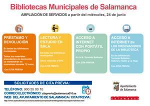 NUEVOS SERVICIOS EN LA RED DE BIBLIOTECAS MUNICIPALES DE SALAMANCA